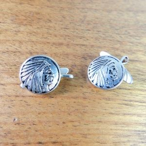 Vintage Indian Chief Head Cufflinks